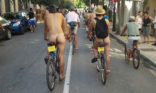 La bicicletada de Palma acaba en un 'despelote' de varios participantes