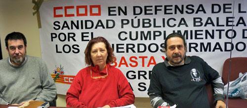 CC OO afirma que el Govern quiere degradar y privatizar la sanidad