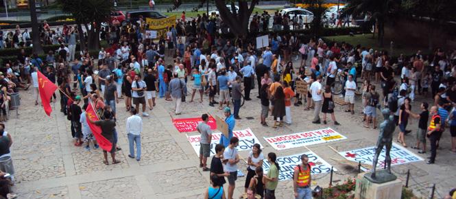 El movimiento 15M se manifiesta en Palma en defensa de la sanidad