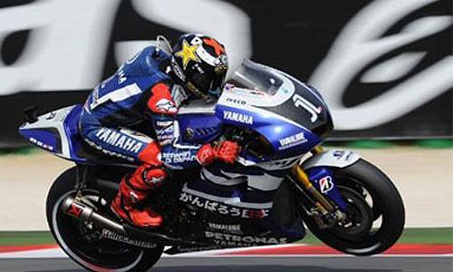 Lorenzo sufre en Aragón y queda en cuarta posición