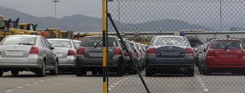 Cae un 11,19% el número de turismos que pasan por los puertos de Baleares