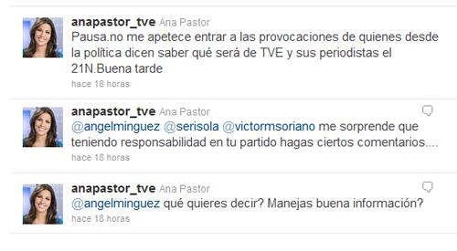 Ana Pastor y Ángel Mínguez se enzarzan en Twitter
