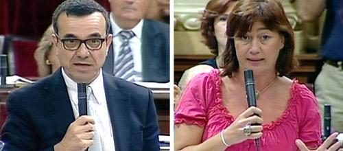Aguiló y Armengol se enzarzan en el Parlament