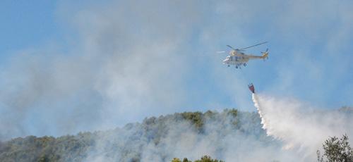 Un incendio próximo al Monasterio de Randa obliga a decretar el nivel 1