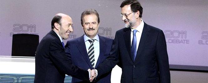La crisis y el paro centran el 'cara a cara' entre Rajoy y Rubalcaba