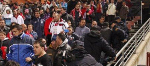 Detenido un menor por el paraguazo al asistente del Granada-Mallorca