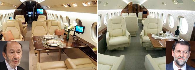 Alfredo P. Rubalcaba y Mariano Rajoy vuelan a Palma en jet privado