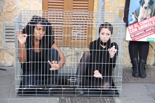 Enjaulados contra la venta de animales
