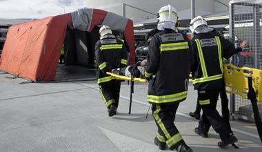 Son Sant Joan realiza un simulacro de evacuación por aviso de bomba