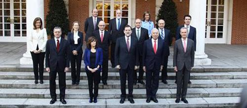 Rajoy y sus ministros reunidos para nombrar altos cargos