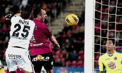El Mallorca despide el año con una derrota