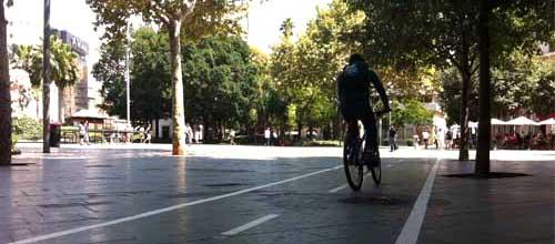 El uso del carril bici ha aumentado en diciembre un 50 por ciento
