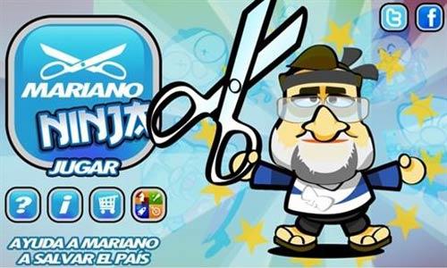 Haz recortes con Mariano Rajoy al estilo Fruit Ninja
