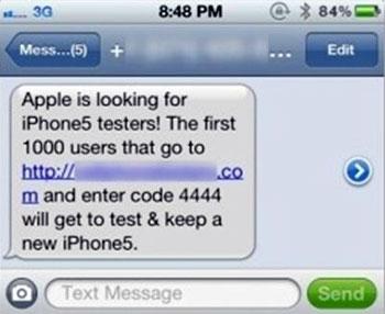 Si te ofrecen probar el iPhone 5... es una estafa