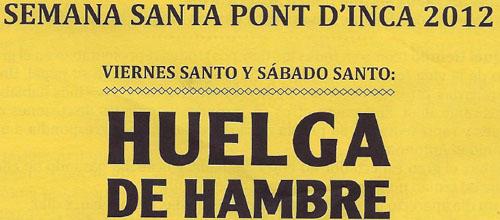 El cura del Pont d'Inca propone a sus feligreses una huelga de hambre