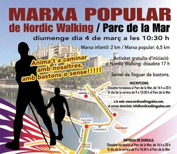 Palma acoge el domingo la primera Marxa Popular de Nordic Walking
