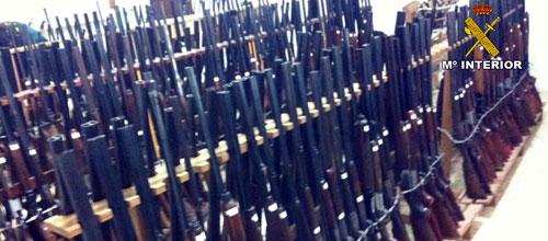 La Guardia Civil subastará el 30 de abril en Palma un total de 463 armas
