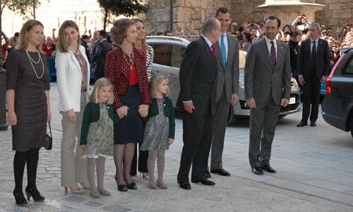 Misa de Pascua sin los duques de Palma