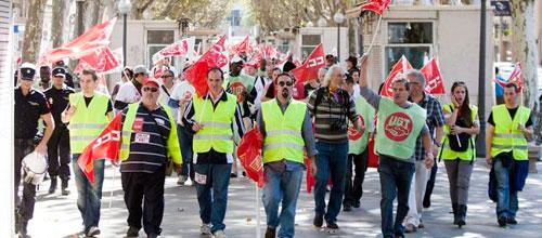 Los sindicatos plantean una huelga general en Baleares
