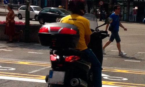 Las motos aún no entienden de rayas