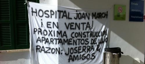 Acusan al Govern de especular con el cierre del Hospital Joan March