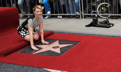 Scarlett Johansson ya tiene estrella en el Paseo de la Fama