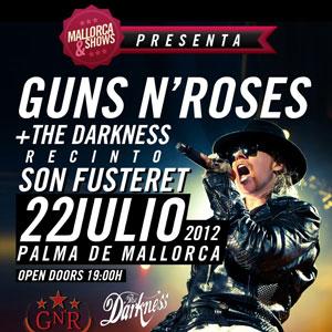 El concierto de Guns N' Roses se traslada a Son Fusteret