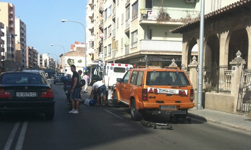 Accidente en la calle Aragón