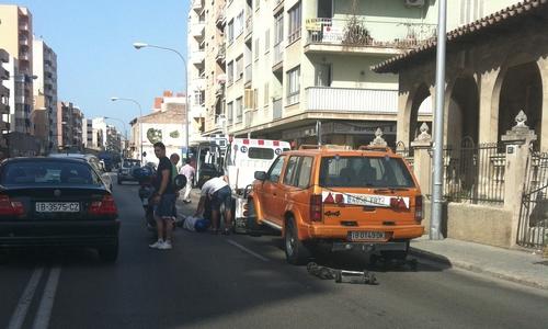 Accidente en la calle Aragón