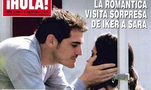 Visita sorpresa de Iker Casillas a Sara Carbonero