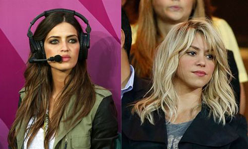 Carbonero y Shakira, reinas de la Eurocopa