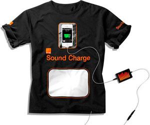Las camisetas del futuro podrán recargar la 'tablet' o el 'smartphone'