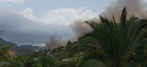 Día de incendios forestales en Mallorca