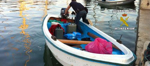 Interceptan dos pateras con 15 inmigrantes cerca de Cabrera