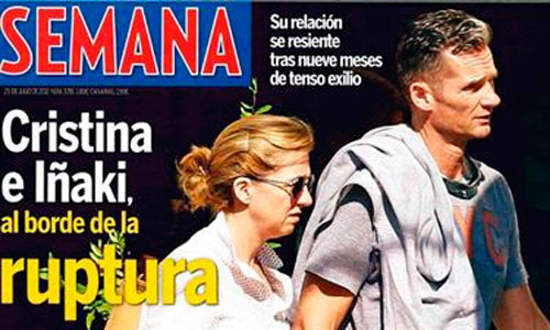 Cristina e Iñaki, al borde de la ruptura