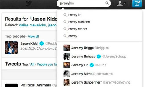 Twitter incorpora el autocompletado