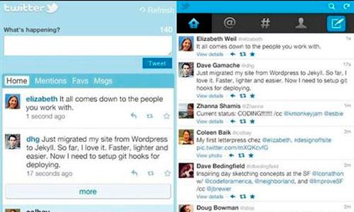 Twitter renueva la versión para móviles