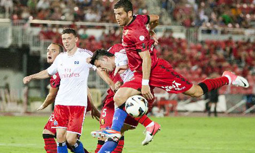 El Mallorca se adelanta gracias a otro gol de Hemed