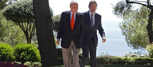 Rajoy, increpado a su llegada a Marivent