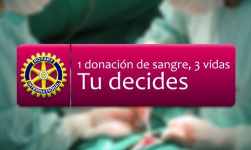 Diada de donación de sangre de los rotarios