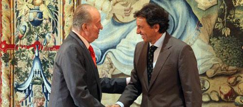 Isern anuncia al Rey que el Palacio de Congresos tendrá una solución