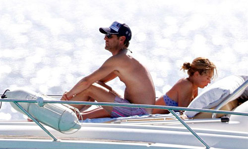 Patricia Conde y Carlos Seguí disfrutan del sol de Mallorca