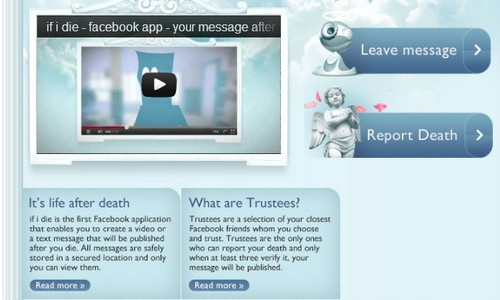 Mensaje póstumo en Facebook