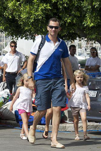 El Príncipe Felipe está con sus hijas en Mallorca