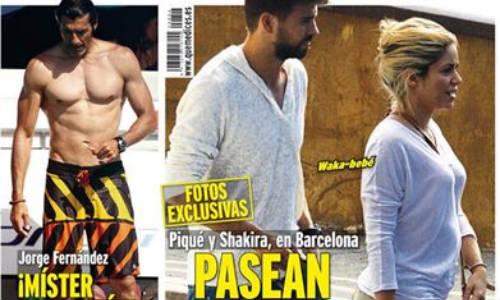 Shakira, embarazo evidente