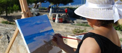 Encuentro de pintura en el Castillo de San Carlos