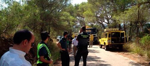 Dos incendios forestales en Menorca