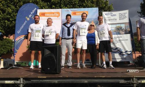 400 personas en la maratón benéfica de hoy