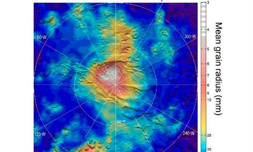 Evidencias de nevadas de dióxido de carbono en Marte