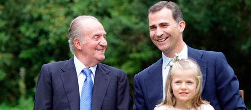 El Rey, el Príncipe Felipe y la Infanta Leonor, nueva imagen de la Casa Real